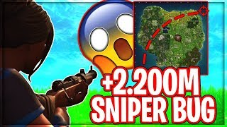 SNIPER BUG *2.200M SNIPER KILL!* | Danske Fortnite Highlights #157