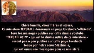 Annonce lancement page Facebook MINISTÈRE TERUAH