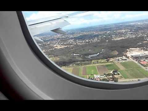 Qantas Flight Sydney To Perth QF 581 2nd Nov 2015 { LANDING }