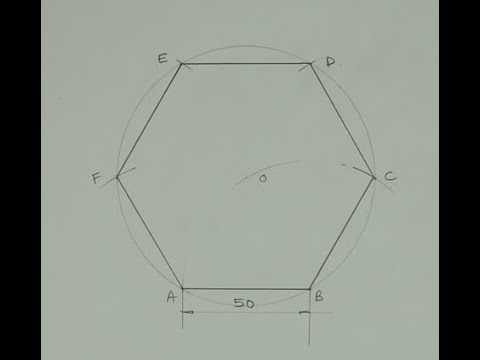 Download How to draw a hexagon when side is given - Engineering drawing - Technical drawing