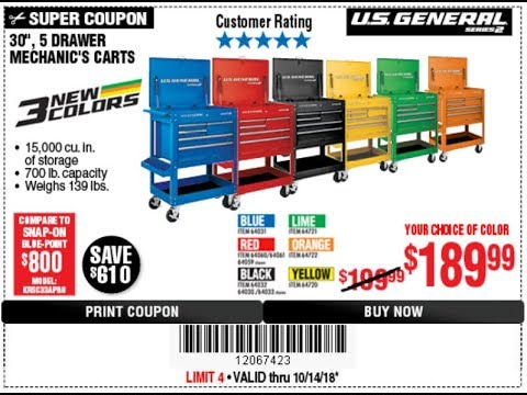 harbor freight releases new tool cart colors youtube. Black Bedroom Furniture Sets. Home Design Ideas