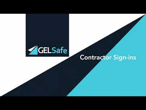 GELSafe - Contractor Sign-ins (Mobile)