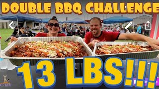 UNDEFEATED 13 LB BBQ BOWL AT 3 HOGS BBQ  WOMAN VS FOOD