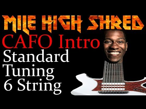 Cafo Intro Standard Tuning 6 String Guitar Youtube