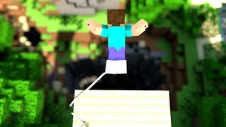 Cave Diving - Minecraft Bungee Jumping Animation