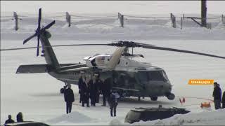 На 6 вертолетах: Трамп прибыл в Давос