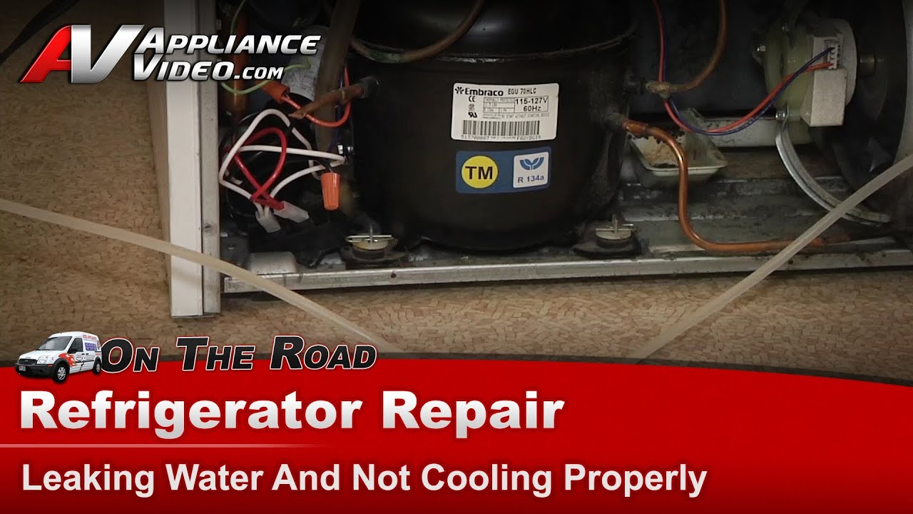 Kitchenaid Refrigerator Not Cooling Properly maytag refrigerator repair - leaking water on floor & not cooling