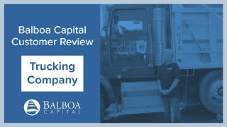 Trucking Equipment Financing | Balboa Capital Review