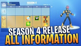 *NEW* SEASON 4 RELEASE! GAMEMODES, SKINS AND MORE INFO BEFORE RELEASE! - Fortnite: Battle Royale