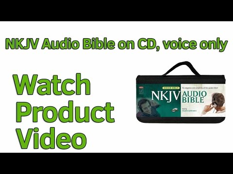 NKJV Audio Bible on CD Voice only