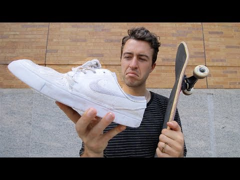 Skating in NIKE Shoes