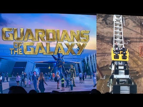 Guardians of the Galaxy Roller Coaster SNEAK PEEK Walt Disney World Epcot IAAPA 2018