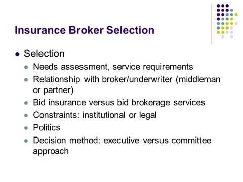 Bidding Your Insurance Finding the Right Partners Insurance Broker Selection