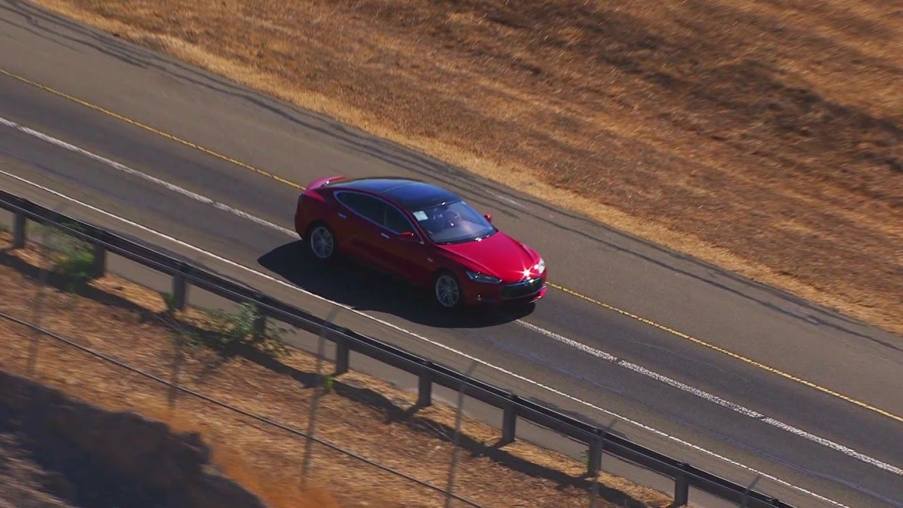 2016 Tesla Model S Fremont Factory Aerial View And Test Track