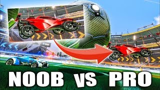 ROCKET LEAGUE NOOB VS PRO WHO CAN ONLY PLAY BACKWARDS!