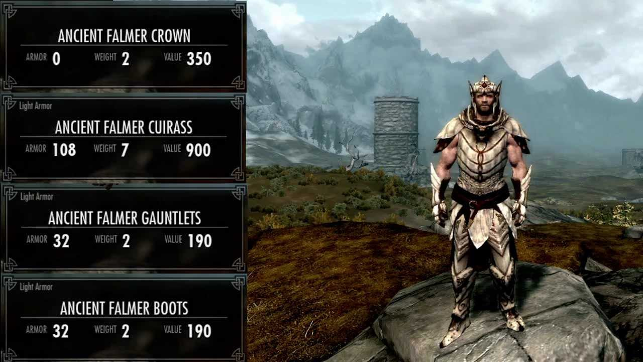Dawnguard all light armor male youtube voltagebd Choice Image