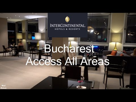 INTERCONTINENTAL Luxury HOTEL Bucharest,  Romania ACCESS ALL AREAS TOUR including CLUB LOUNGE