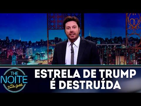 Monólogo: Estrela de Trump na Calçada da Fama é vandalizada | The Noite (02/08/18)