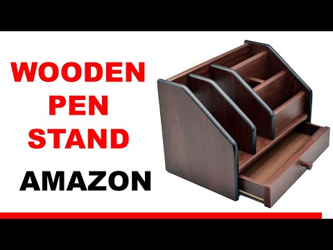 Pen stand Unboxing - Pencil Holder, Pen Holder | wooden pen stand | Amazon Sale | Hindi by psj