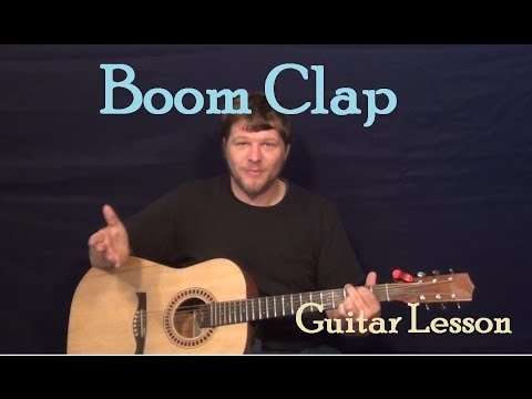 Boom Clap (Charli XCX) Easy Guitar Lesson How to Play Tutorial