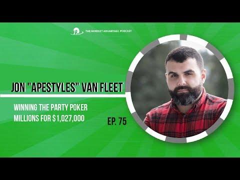"""Jon """"Apestyles"""" Van Fleet on Winning The Party Poker Millions for $1,027,000"""