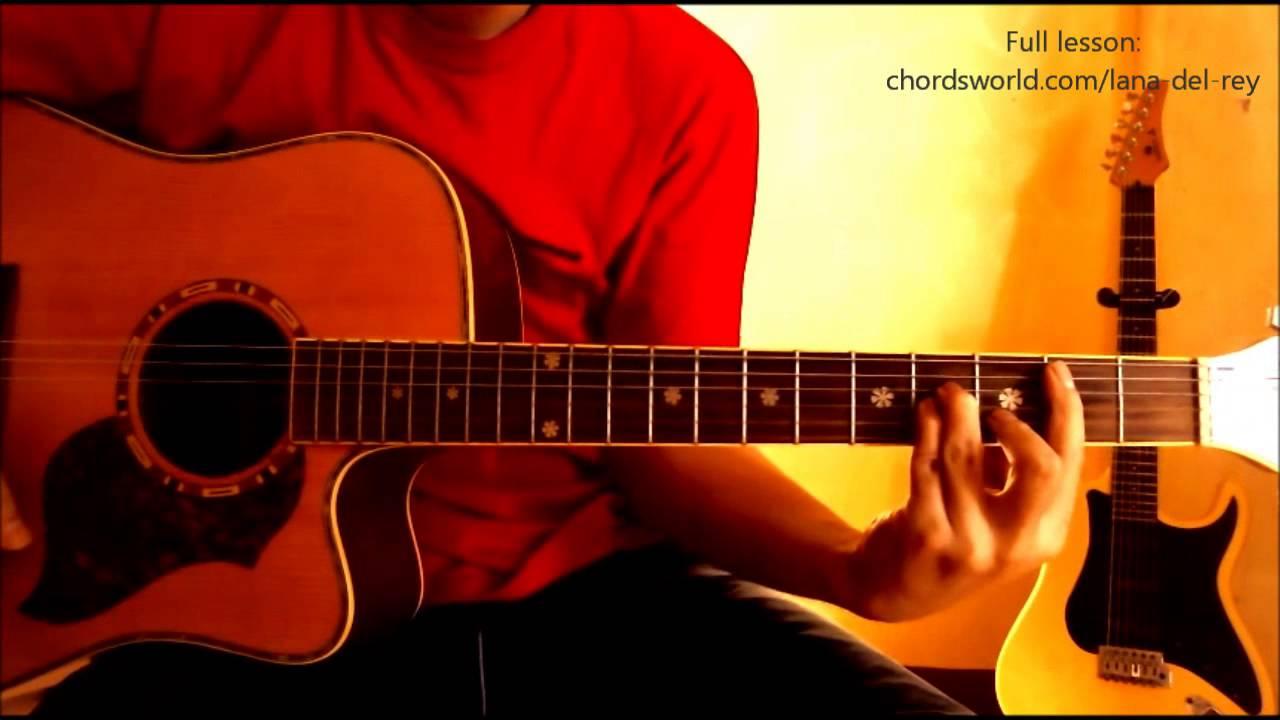 Young And Beautiful Chords Lana Del Rey Chordsworld Guitar