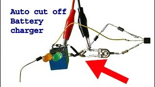 How to make Auto cut off 12 volt battery charger,diy circuit