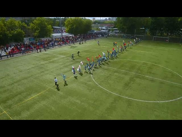 Children take part in Football for Friendship in Russia