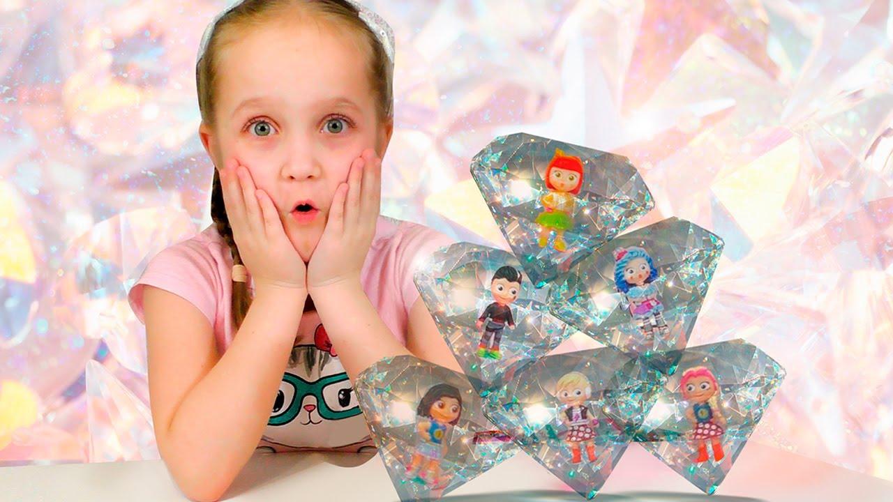 Куколки-Украшения в Кристаллах / Коллекция игрушек LIL' SNAPS