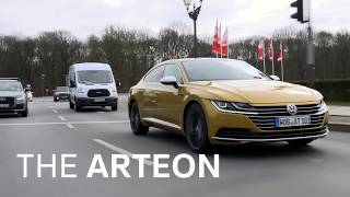 The Arteon on the road in Berlin