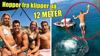 Hopper fra 12 METER HØJ KLIPPE!! (Mallorca vlog) m. Josefine Simone, Mads Gottlieb, Caro