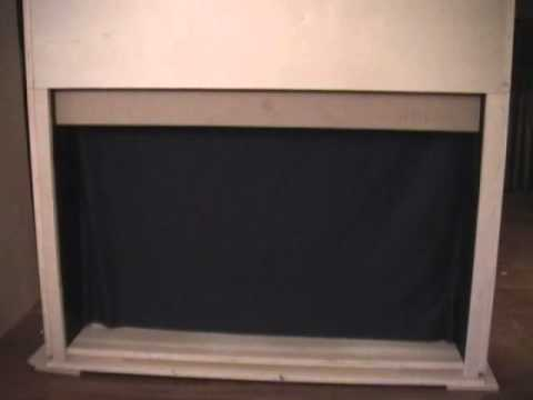 Single Panel Automatic Door For Hiding Tv Raises Vertically Youtube