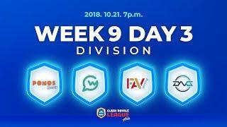 クラロワリーグ アジア シーズン2 Week9 Day3