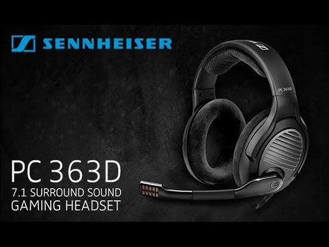 Sennheiser Pc 363d 71 Gaming Headset Unboxing Review Youtube