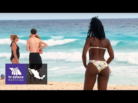 7c4322a507e4 En las playas de Cancún desfilan las mujeres bellas | Azteca ...