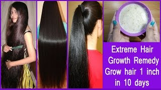 Extreme Hair Growth Remedy /Stop Hair Loss |Grow hair 1 inch in 10 days