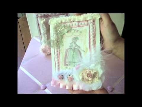 Shabby Chic Altered Paper Lunch Bags