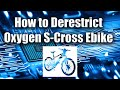 How to Derestrict Oxygen S-Cross Ebike - Electric Bicycle (E-Bike) Tutorial - ZanyGeek