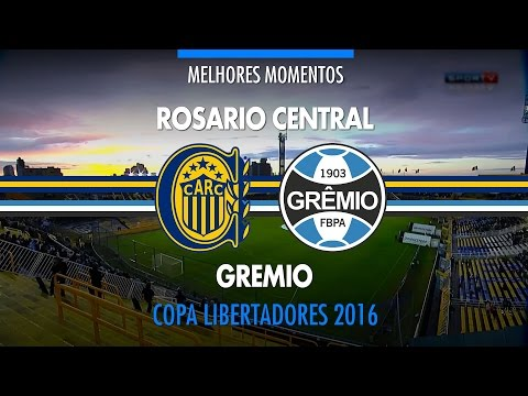 Gols - Rosario Central-ARG 3 x 0 Grêmio - Libertadores - 05/05/2016