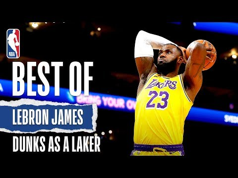 LeBron's BEST Dunks Since Joining The Lake Show!