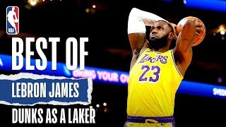 Download LeBron's BEST Dunks Since Joining The Lake Show! Mp3 and Videos