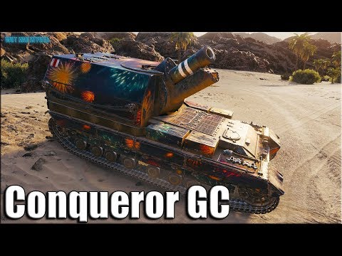 Настоящий АРТАВОД на КОНЕ Conqueror GC  ✅ World of Tanks лучший бой на арте