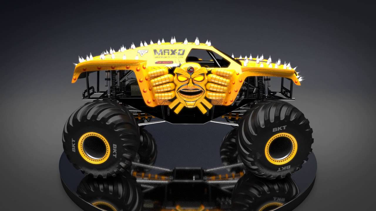 Max-D Yellow - New Look for Monster Jam 2016! - YouTube