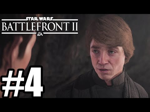 Star Wars Battlefront 2 Gameplay Walkthrough Part 4 - Luke Skywalker - No Commentary