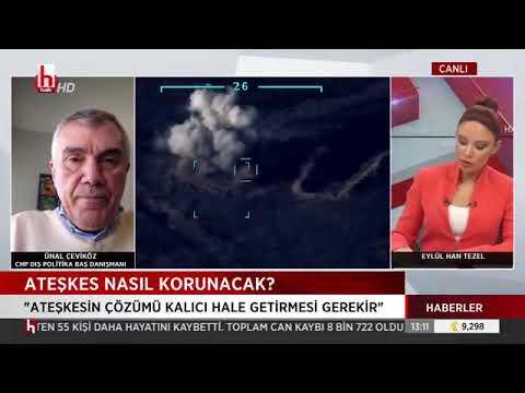 CHP İSTANBUL MİLLETVEKİLİ ÜNAL ÇEVİKÖZ HALK TV'DE AZERBAYCAN-ERMENİSTAN ATEŞKESİ
