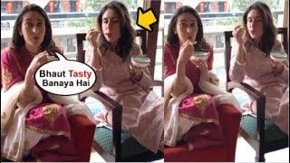 Kareena Kapoor EATING Kheer Made By SISTER Karisma Kapoor At Home In Lock Down