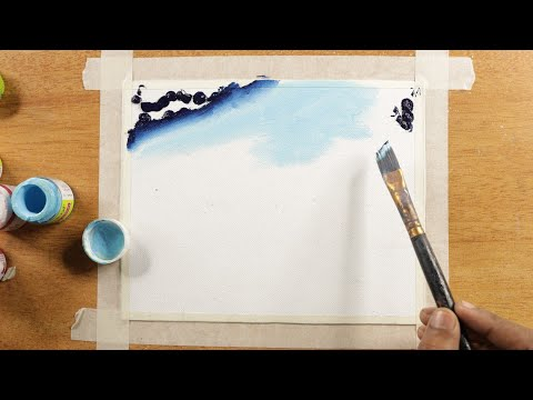 Galaxy Mountain / Easy Acrylic painting / panting / Painting tips and trick