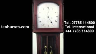 Small antique domestic regulator Longcase clock. Dent, London