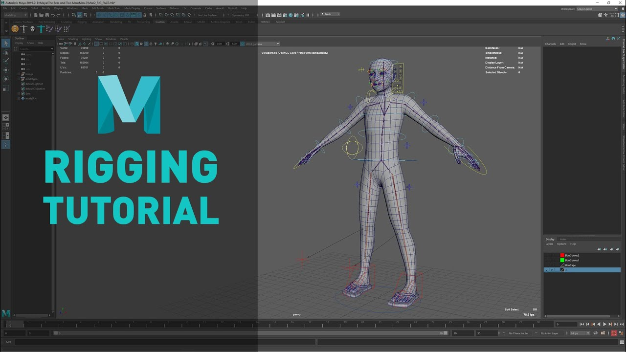 Maya 2018 Character Rigging | Advanced Skeleton Setup - Body Rig