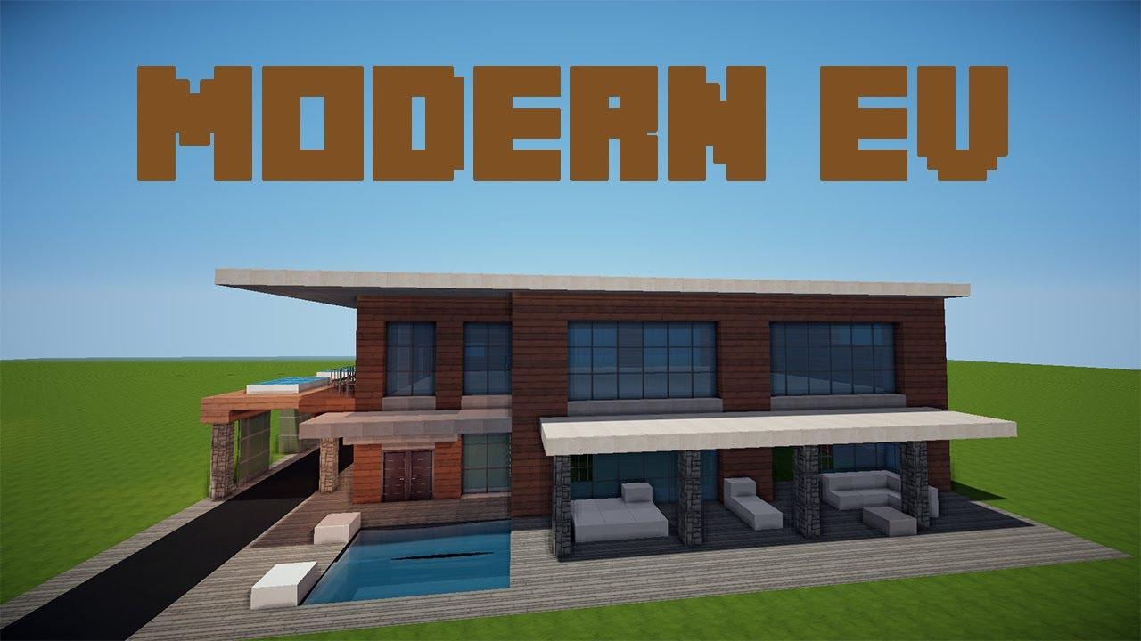 minecraft modern ev resimleri 1 youtube. Black Bedroom Furniture Sets. Home Design Ideas